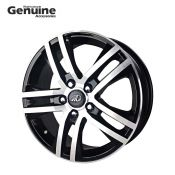"""Scorpio 17"""" Machined Glossy Black Alloy Wheel with Hub Cap for S5 (2WD) ,S7 (2WD) ,S9 , S4, S6, S8, S10, S11 (2WD)"""