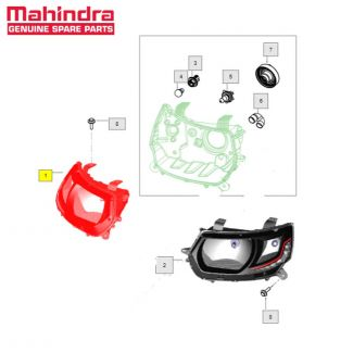 Head Lamp Assembly RH High for KUV100