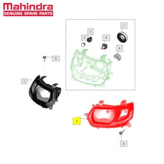Head Lamp Assy Lh High for KUV100