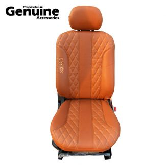 Scorpio Premium Tan Seat Cover Set 7 Seater Side Facing for S3 ,S5 ,S7 ,S9 ,S11, S2, S4, S6, S8, S10