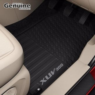 XUV300 Rugged PVC Floor Mat Set in Black (Set of 4 pcs) for W8, W8 (O), W4, W6 - (Without Boot Mat)