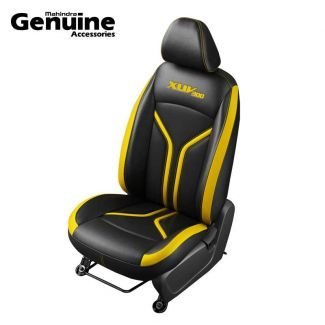XUV300 Sporty Theme Perforated Black & Yellow Insert Vinyl Seat Cover for W8, W8 D