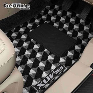 XUV300 Printed Carpet Floor Mats (Without Boot Mat) for AMT Variants