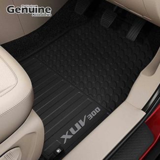 XUV300 Rugged PVC Floor Mat Set in Smoke Grey for W6 AMT, W8 AMT & W8 (O) AMT Variants (Without Boot Mat)