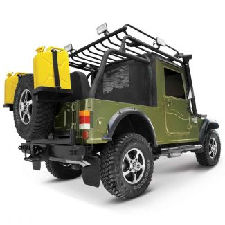 Mahindra Thar CRDe & DI -Roof Carrier with Roll Over Bar & Roll Cage