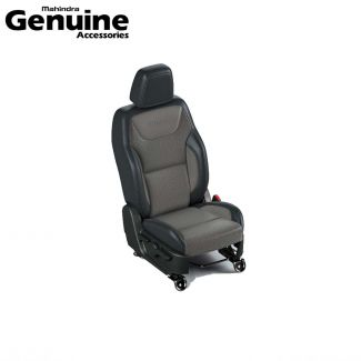 Mahindra Thar 2020 BS6 Seat Cover Set in Black with Brown Square Perforation for 6 Seater Variants - AX AC