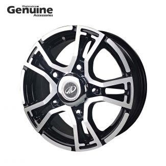 "Bolero Trex Black Machined 15"" Alloy Wheel with Hub Cap BS4 & BS6"