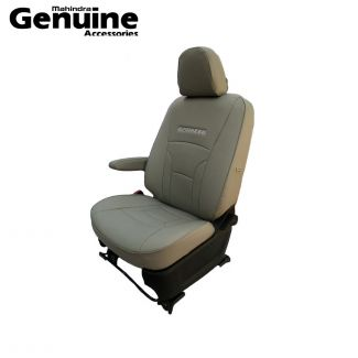 Mahindra Marazzo 7 Seater - Grey with Piping PU Seat Cover Set for M2, M4, M6 & M8