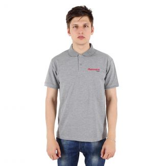Mahindra Rise Poly Cotton 230 GSM Polo T-Shirt in Grey