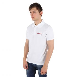 Mahindra Rise Poly Cotton 230 GSM Polo T-Shirt in White