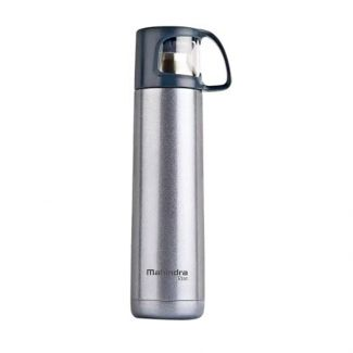 Mahindra Rise Sipper Flask with Cup Cap in Silver (500 ml)