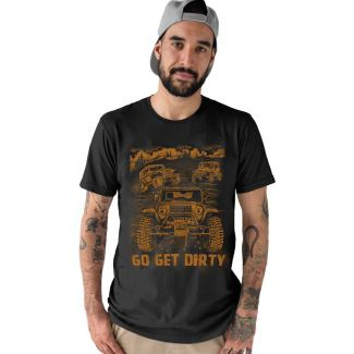 Mahindra Go Get Dirty T-Shirt in Black